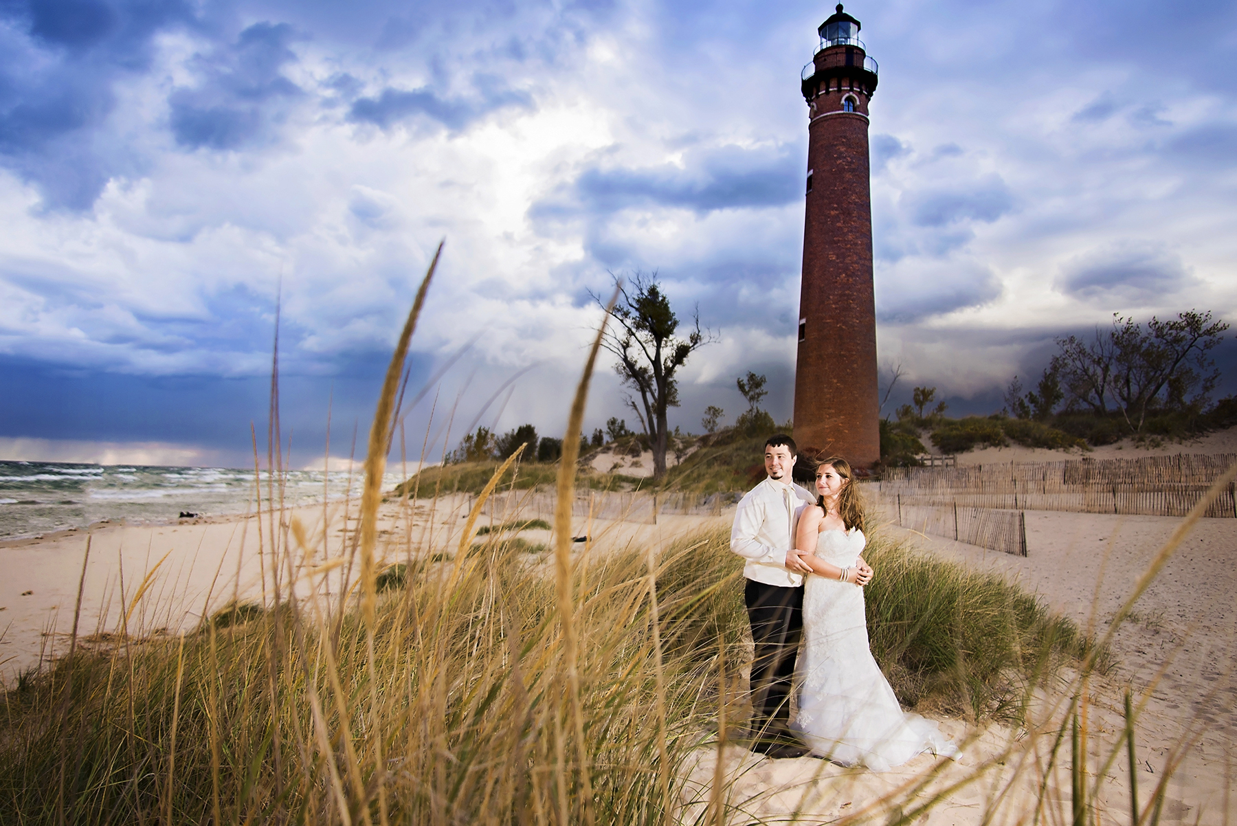 Little Sable Point Lighthouse Michigan Wedding Photography