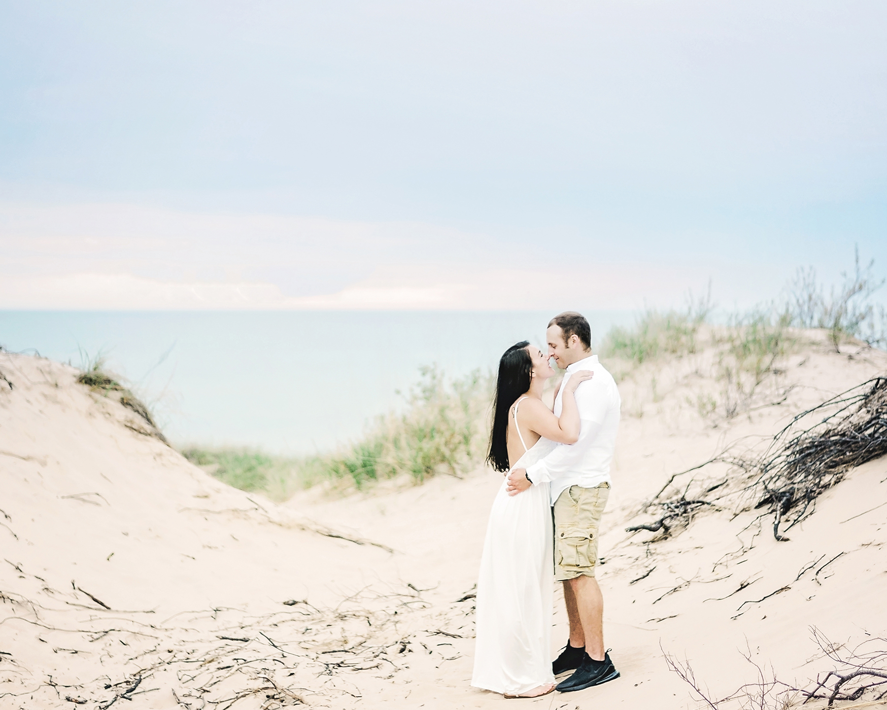 Lake Michigan Sunset Engagement Session