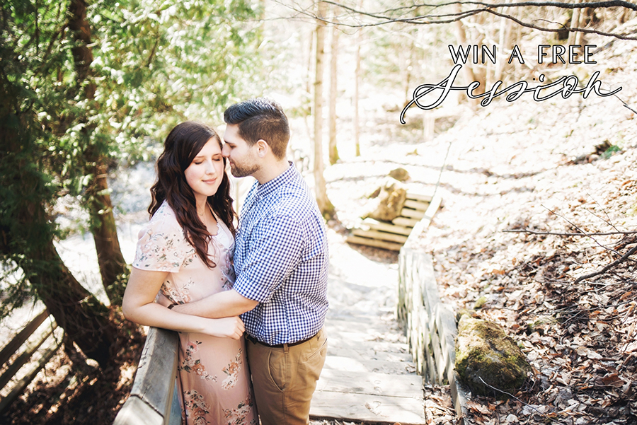Win a free engagement session with Intrigue Photography!