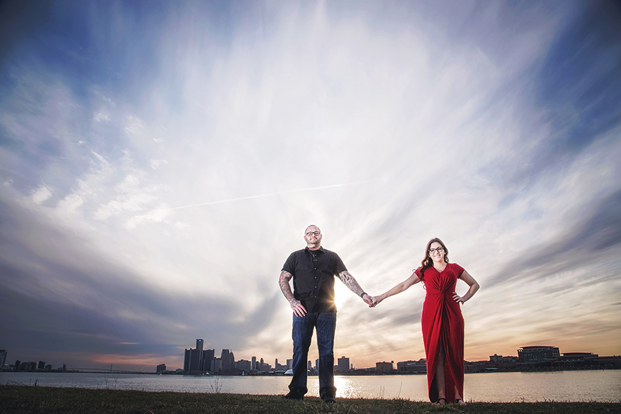 Belle Isle Sunset Point - Detroit Engagement Sessions