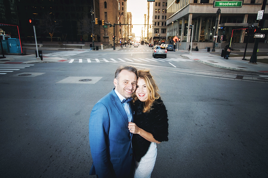 The streets of Detroit are perfect for your Detroit engagement photos!