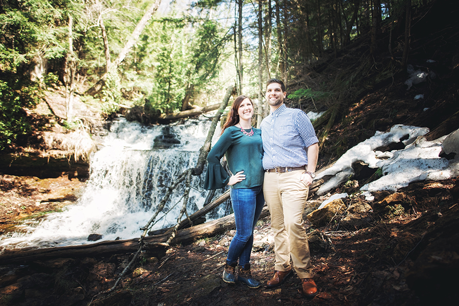 Best Places to Elope in Michigan - Munising Waterfalls - Wagner Falls